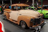 HELSINKI, FINLAND - OCTOBER 3: X-Treme Car Show, showing 1951 Chevrolet Pickup on October 3, 2009 in