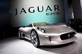 PARIS, FRANCE - SEPTEMBER 30: Paris Motor Show on September 30 in Paris, 2010, showing Jaguar C-X75,