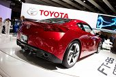 PARIS, FRANCE - SEPTEMBER 30: Paris Motor Show on September 30, 2010 in Paris, showing Toyota FT-86