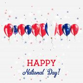 Постер, плакат: New Caledonia Independence Day Sparkling Patriotic Poster Happy Independence Day Card With New Cale