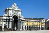 Augusta Street Arch In Lisbon