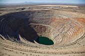 picture of open-pit mine  - Closed Open Pit Mine in Central Arizona - JPG