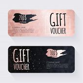 Постер, плакат: Gift Voucher Template With Rose Gold Gift Background Gift Certificate Background Design Gift Coupo