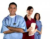 stock photo of medical assistant  - Diverse medical team - JPG