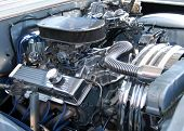 Classic muscle car engine