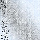 Antique Wallpaper mit floral vine