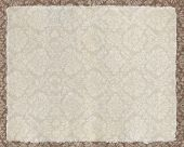 Elegant textured victorian wallpaper with vellum space for copy