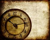 Vintage clock grunge background