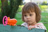 Girl With A Bubble Making Gun