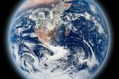 Background business template of the glowing Earth