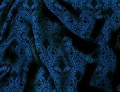 blue shimmery victorian silk background