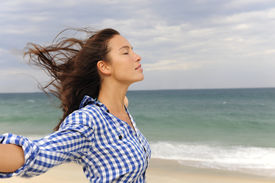 image of independent woman  - freedom - JPG
