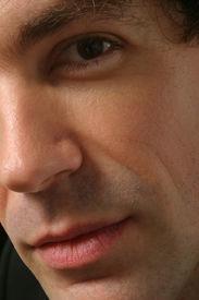 stock photo of macho man  - man beautiful portrait - JPG