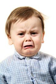 pic of sad face  - portrait studio baby - JPG
