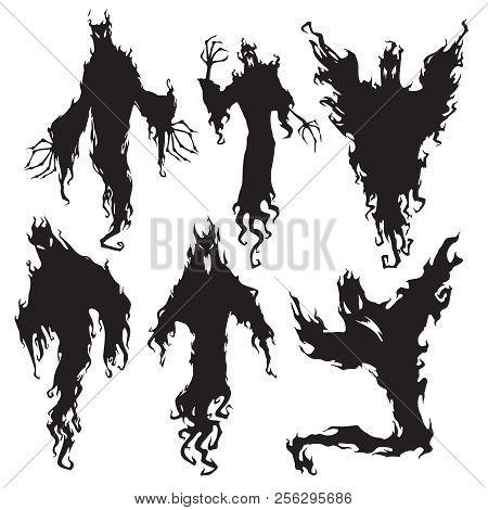 Evil Spirit Silhouette Halloween Dark