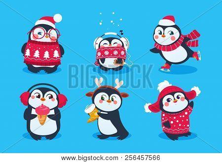 Christmas Penguin Funny Snow Animals