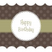 Beautiful vector Birthday card