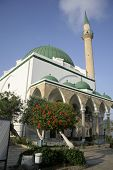 green roof mosque in akko israel