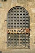 old wooden door in akko israel