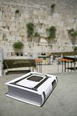 image of tora  - Jewish bible on table - JPG