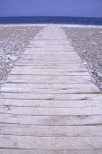 pathway leading to beach and sea