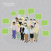 stock photo of population  - Demographic infographics - JPG
