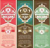 Vertical vintage Labels