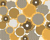Seamless Floral Pattern in Retro Style.
