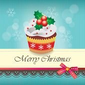 Christmas cupcake card 02
