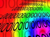 Rainbow Binary Digits