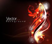 Glowing foliage elements in eps10 vector format