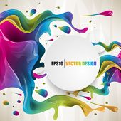 eps10  vector multicolor splat and a frame