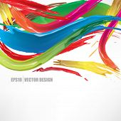 eps10 vector realistic multicolor brushed ink abstract design