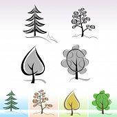 Árvore abstrata ícones e símbolos