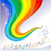 Music Melody - Abstract Rainbow Pencil Series