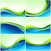 illustration of set of colorful abstract background
