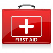 illustration of first aid box on white background