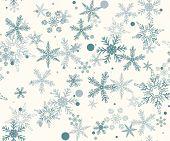 Постер, плакат: Рука нарисованные шаблон с Рождество снежинки
