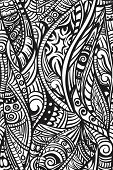 Ethnic seamless pattern. Hand drawn