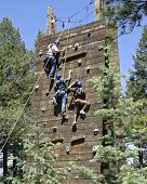 picture of team building  - a group of three climbers - JPG