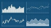 Bar Graph And Line Graph Templates, Business Infographics, Vector Illustration. Graphs And Charts Se poster