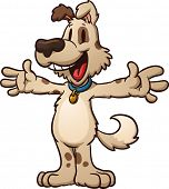 foto of cartoon character  - Cute cartoon dog ready for a hug - JPG