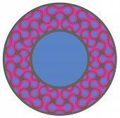 Magenta circular design - vector