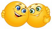 image of emoticons  - Hugging emoticons - JPG