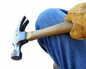 Hammer In Hand Of Construction Worker