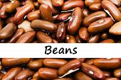 Close Up Brown (red) Beans Background. poster