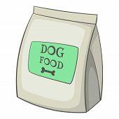 Dog Food Bag Icon. Cartoon Illustration Of Dog Food Bag Icon For Web poster