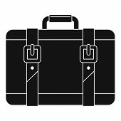 Trip Leather Bag Icon. Simple Illustration Of Trip Leather Bag Vector Icon For Web Design Isolated O poster