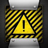 Warning Symbol. Vector illustration.