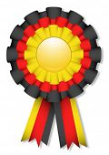Yellow, red and black cockade